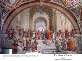 The  School of Athens 1510-11 Fresco Vatican, Stanza della Segnatura, Rome