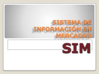 SISTEMA DE INFORMACIÓN EN MERCADEO