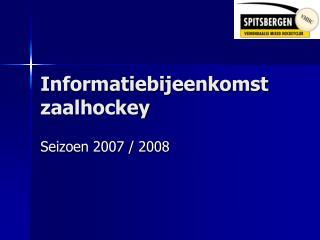 Informatiebijeenkomst zaalhockey