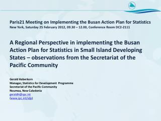 Busan Action Plan for Statistics
