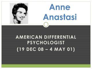 Anne  Anastasi