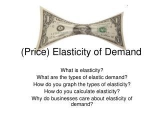 (Price) Elasticity of Demand