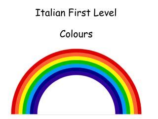 Italian First Level