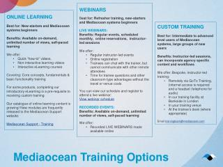 Mediaocean Training Options