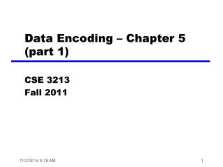 Data Encoding – Chapter 5 (part 1)
