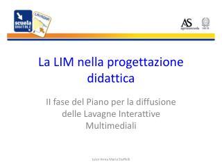 La LIM nella progettazione didattica
