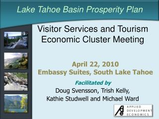 Visitor Services and Tourism Economic Cluster Meeting