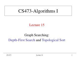 CS473-Algorithms I