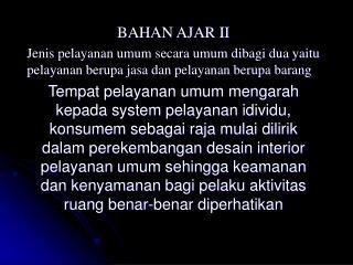BAHAN AJAR II