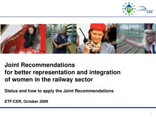 Joint Recommendations of the Social Partners for better representation of women in the sector