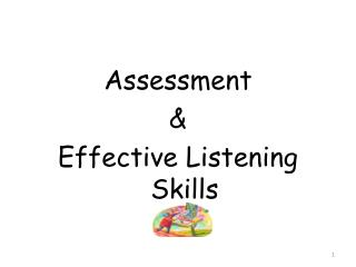 Assessment  &  Effective Listening Skills