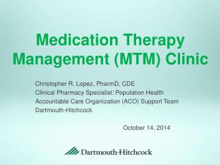 Medication Therapy Management (MTM) Clinic