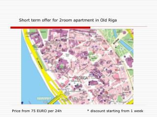 Short term offer for 2room apartment in Old Riga