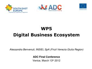 WP5 Digital Business Ecosystem Alessandra Benvenuti, INSIEL SpA (Friuli Venezia Giulia Region)