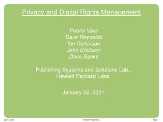 Privacy and Digital Rights Management