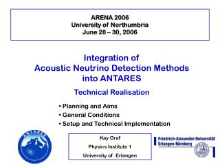 ARENA 2006 University of Northumbria June 28 – 30, 2006