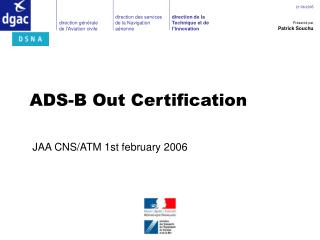 ADS-B Out Certification