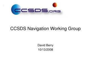 CCSDS Navigation Working Group