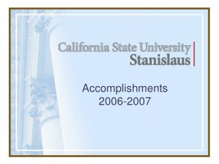 Accomplishments 2006-2007