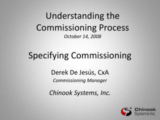 Specifying Commissioning