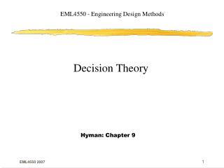 EML4550 - Engineering Design Methods