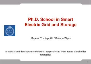 Ph.D. School in Smart Electric Grid and Storage