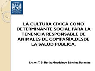 Lic. en T. S. Bertha Guadalupe S�nchez Dorantes