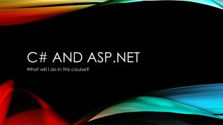 C# and ASP