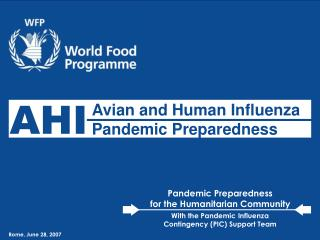 Avian and Human Influenza Pandemic Preparedness