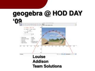 geogebra @ HOD DAY '09