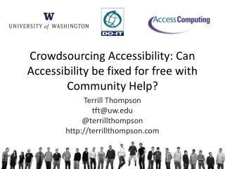 Crowdsourcing Accessibility: Can Accessibility be fixed for free with Community Help?