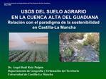 Curso de formaci n de especialistas del Plan Especial del Alto Guadiana. Mayo 2009.
