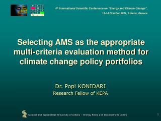 Dr. Popi KONIDARI  Research Fellow of KEPA