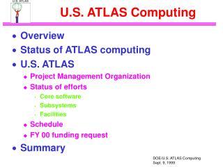 U.S. ATLAS Computing