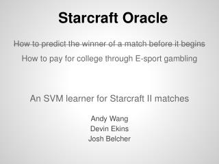 Starcraft Oracle