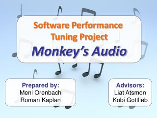 Software Performance  Tuning Project Monkey's Audio