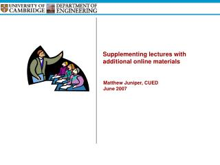 Supplementing lectures with additional online materials