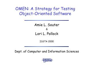 OMEN: A Strategy for Testing  Object-Oriented Software
