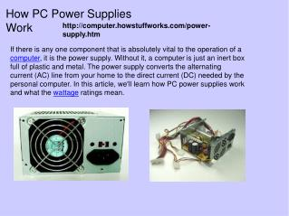 How PC Power Supplies Work