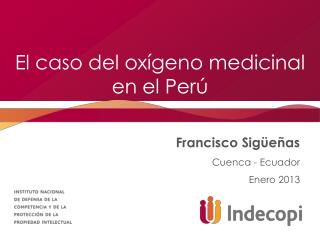 El caso del oxígeno medicinal en el Perú
