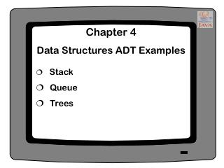 Chapter 4 Data Structures ADT Examples