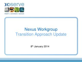 Nexus Workgroup Transition Approach Update