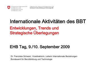 Internationale Aktivitäten des BBT
