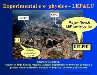 Experimental e + e -  physics – LEP&LC