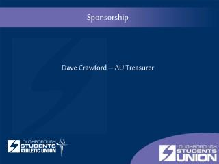 Training Slides - Sponsorship