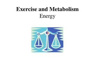 Exercise and Metabolism Energy