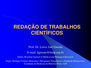 REDA��O DE TRABALHOS CIENT�FICOS