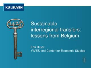 Sustainable interregional transfers: lessons from Belgium