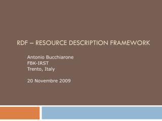 RDF – Resource Description Framework