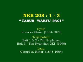 NKB 208 : 1 - 3